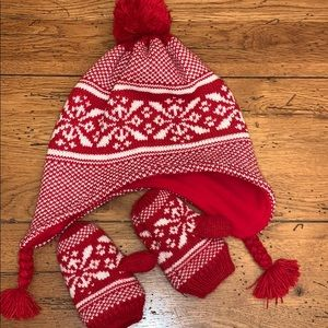 Old Navy Hat and Mittens Toddler Medium